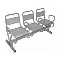 Секция стульев с подлокотниками С4