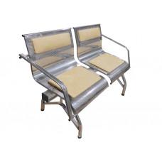 """Секция стульев """"Стайл"""" с 2-мя подлокотниками разборная 2-х местная"""