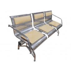 """Секция стульев """"Стайл-М"""" с 2-мя подлокотниками разборная 3-х местная"""