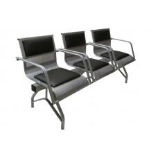 """Секция стульев """"Стайл-М"""" со всеми подлокотниками разборная 3-х местная"""