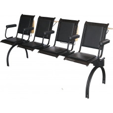 """Секция стульев """"Вега"""" на круглых опорах, с подлокотниками, разборная, С4.32.10, С4.32.11"""