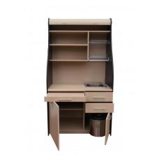 """Мини-кухня для офиса """"Ринг"""" КМ 980 с выдвижным столиком и выдвижными ящиками"""