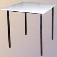 Стол обеденный на сварном каркасе квадратный (столешница ЛДСП)