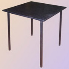 Стол обеденный на сварном каркасе квадратный (столешница ЛДСП с пластиком)