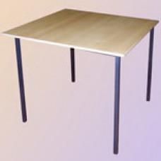 Стол обеденный на сварном каркасе квадратный (столешница МДФ, 18 мм)