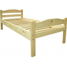 Кровать односпальная деревянная МР-1 бесцветный лак