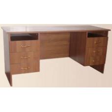 Стол письменный двухтумбовый (с ящиками)